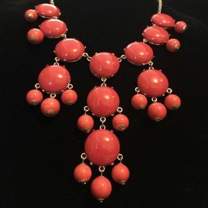Ily Couture Coral Colored Statement Necklace